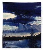 Evening Lake Fleece Blanket