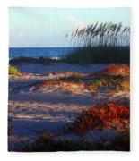 Evening Light At The Beach Fleece Blanket