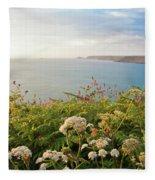 Evening Light In Cornwall Fleece Blanket