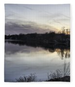 Evening Light On Lake Champlain Fleece Blanket