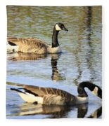 Evening Light On Nature Fleece Blanket