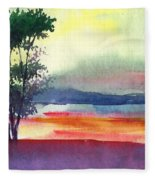 Evening Lights Fleece Blanket