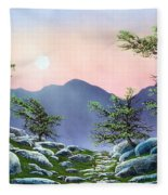 Evening Moonrise Fleece Blanket