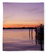 Evening Of Peace - Jersey Shore Fleece Blanket