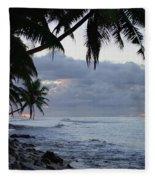 Evening On The Beach Fleece Blanket