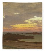 Evening On The Coast Fleece Blanket