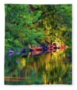 Evening On The Humber River - Paint Fleece Blanket