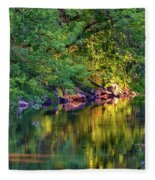 Evening On The Humber River Fleece Blanket