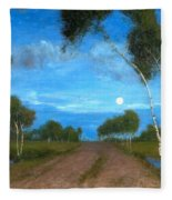 Evening On The Moor Fleece Blanket