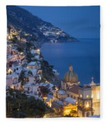 Evening Over Positano Fleece Blanket