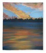 Evening Peace Fleece Blanket