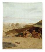 Evening Prayer In The West Fleece Blanket