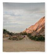 Evening Rocks By Mike-hope Fleece Blanket