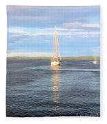 Evening Sail In Frenchman's Bay Fleece Blanket