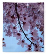 Evening Sky Pink Blossoms Art Prints Canvas Spring Baslee Troutman Fleece Blanket