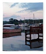 Evening Spring Tide In Mylor Bridge Fleece Blanket