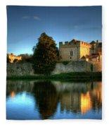 Evening Sun At Leeds Castle Fleece Blanket