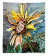 Evening Sun Flower Fleece Blanket
