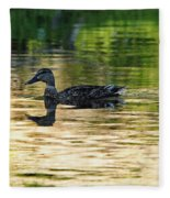 Evening Swim Fleece Blanket
