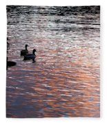 Evening Swim Fleece Blanket