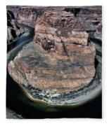 Evening Tones Horseshoe Bend Arizona Landscape  Fleece Blanket