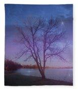 Evening Twinkles Fleece Blanket