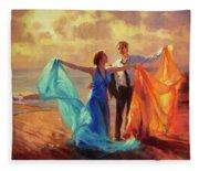 Evening Waltz Fleece Blanket