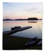 Evening Water Bliss Fleece Blanket