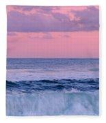 Evening Waves 2 - Jersey Shore Fleece Blanket