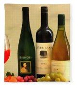 Evening Wine Display Fleece Blanket