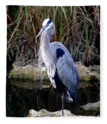 Everglades Heron Fleece Blanket