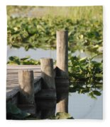 Everglades Pier Fleece Blanket