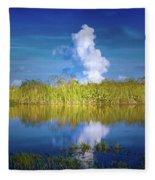 Everglades Smoke Fleece Blanket