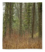 Evergreen Fog Fleece Blanket