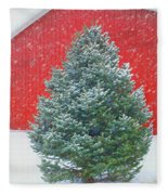 Evergreen In Winter #1 Fleece Blanket