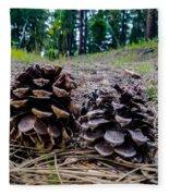 Evergreen Pinecones Fleece Blanket