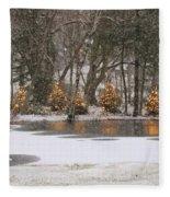 Evergreen Reflection Fleece Blanket