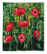 Every Dream Turns Up Poppies Fleece Blanket