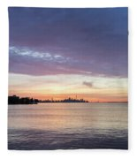 Every Morning Is Different - Toronto Skyline With An Awesome Cloudbank Fleece Blanket