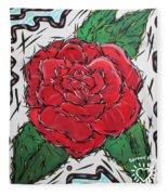 Every Rose Has Its Thorns Fleece Blanket