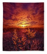 Every Sound Returns To Silence Fleece Blanket