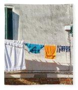 Everyday Life In Venice Fleece Blanket