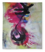 Everything A Mistake-abstract Red Painting Fleece Blanket