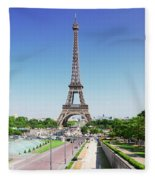 Eviffel Tower With Fountains Fleece Blanket