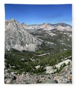 Evolution Lake And Valley Panorama From Darwin Bench - Sierra Fleece Blanket