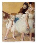 Examen De Danse-dance Examination Fleece Blanket