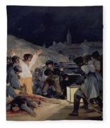 Execution Of The Defenders Of Madrid Fleece Blanket