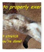 Exercise 101 Fleece Blanket