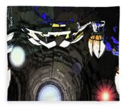 Exiting The Mother Ship Fleece Blanket