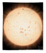 Exoplanet Hd 219134b In Front Of Star Fleece Blanket